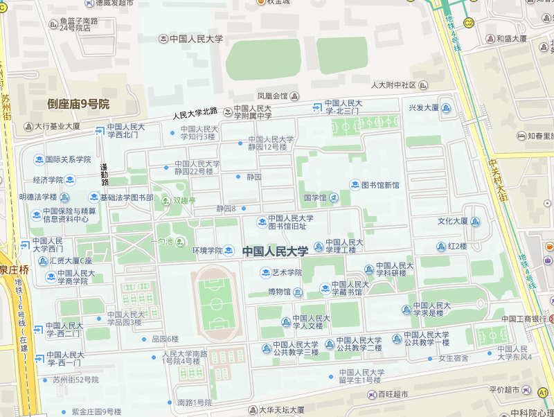 中国人民大学学校地图
