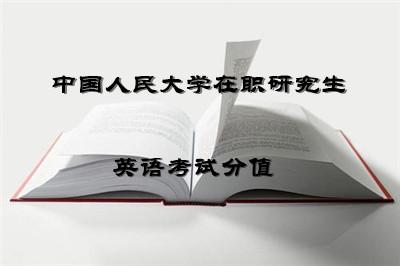 中国人民大学在职研究生同等学力英语考试分值是多少